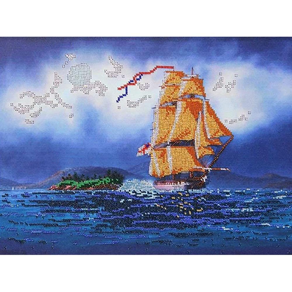 67200 Набор для вышивания бисером Astrea 'Золотые паруса', 40х30 см