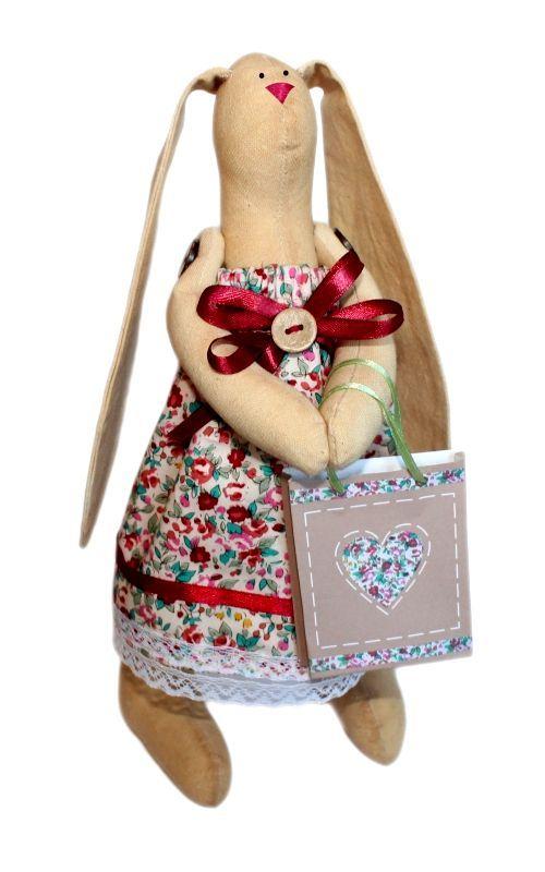AM100001 Набор для изготовления текстильной игрушки 'Зайка Агата', высота 29 см
