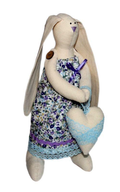 AM100002 Набор для изготовления текстильной игрушки 'Зайка Любава', высота 29 см