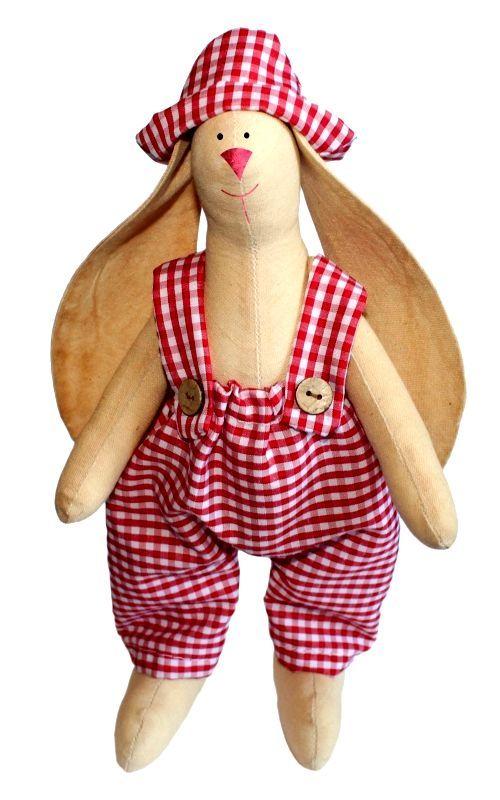 AM100005 Набор для изготовления текстильной игрушки 'Зайка Тимошка', высота 29 см