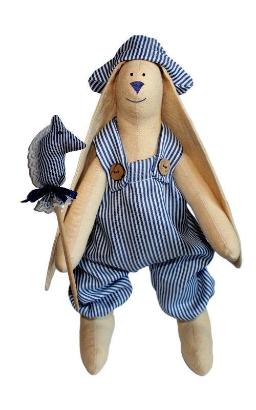 AM100006 Набор для изготовления текстильной игрушки 'Зайка Илюша', высота 29 см