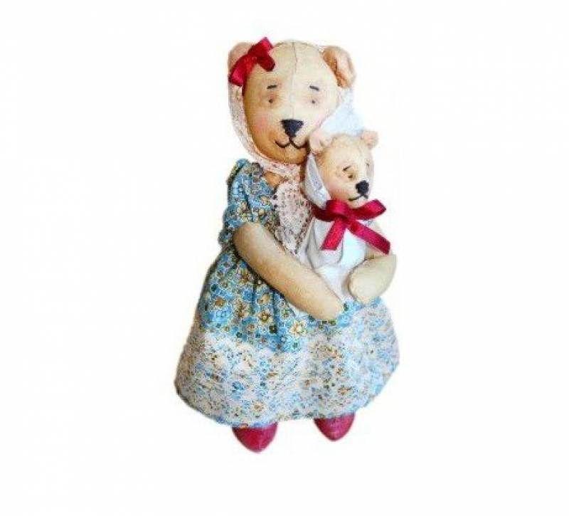 AM100026 Набор для изготовления текстильной игрушки 'Мишка Мама', высота 25 см