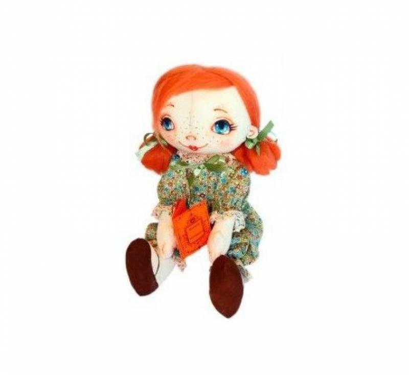 AM100028 Набор для изготовления текстильной игрушки 'Малышка с книжкой', высота 31 см