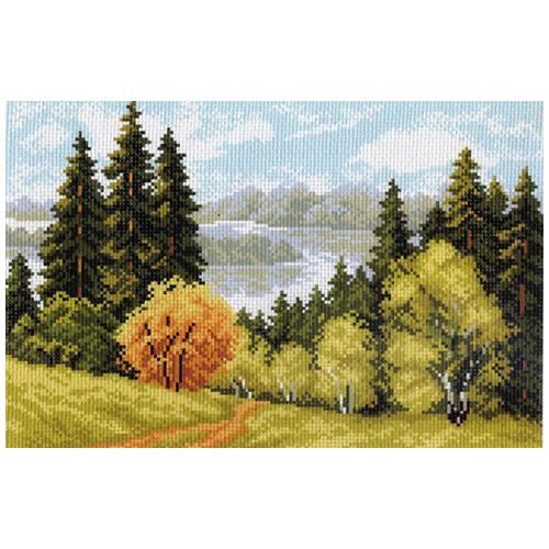 698 Канва с рисунком 'Матренин посад' 'Осеннее очарование', 28*37 см