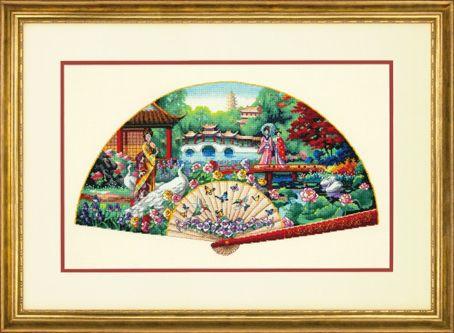 35327-70-DMS Набор для вышивания Dimensions 'Садовый веер', 41х25 см