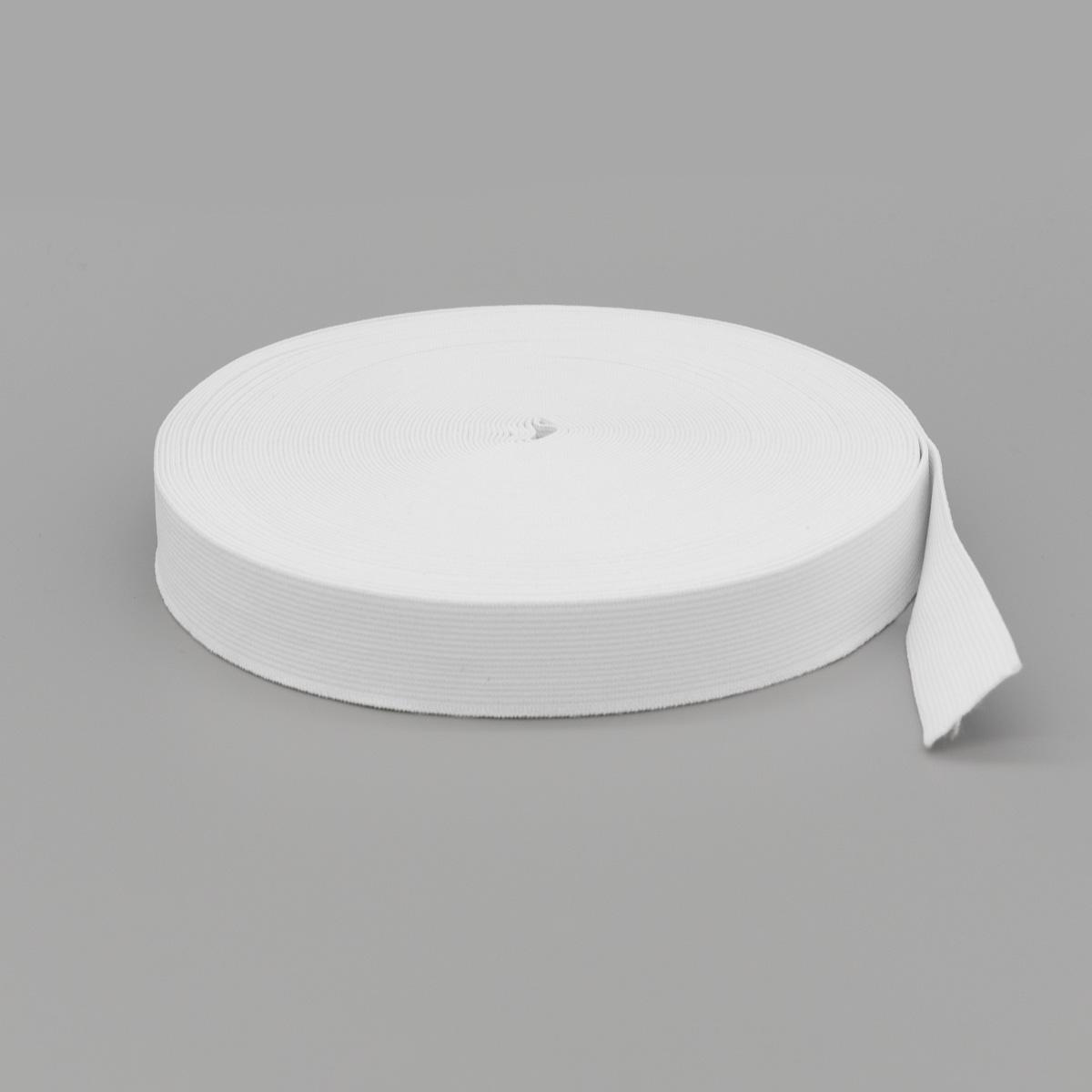Лента тканая эласт. 25мм*20м белая