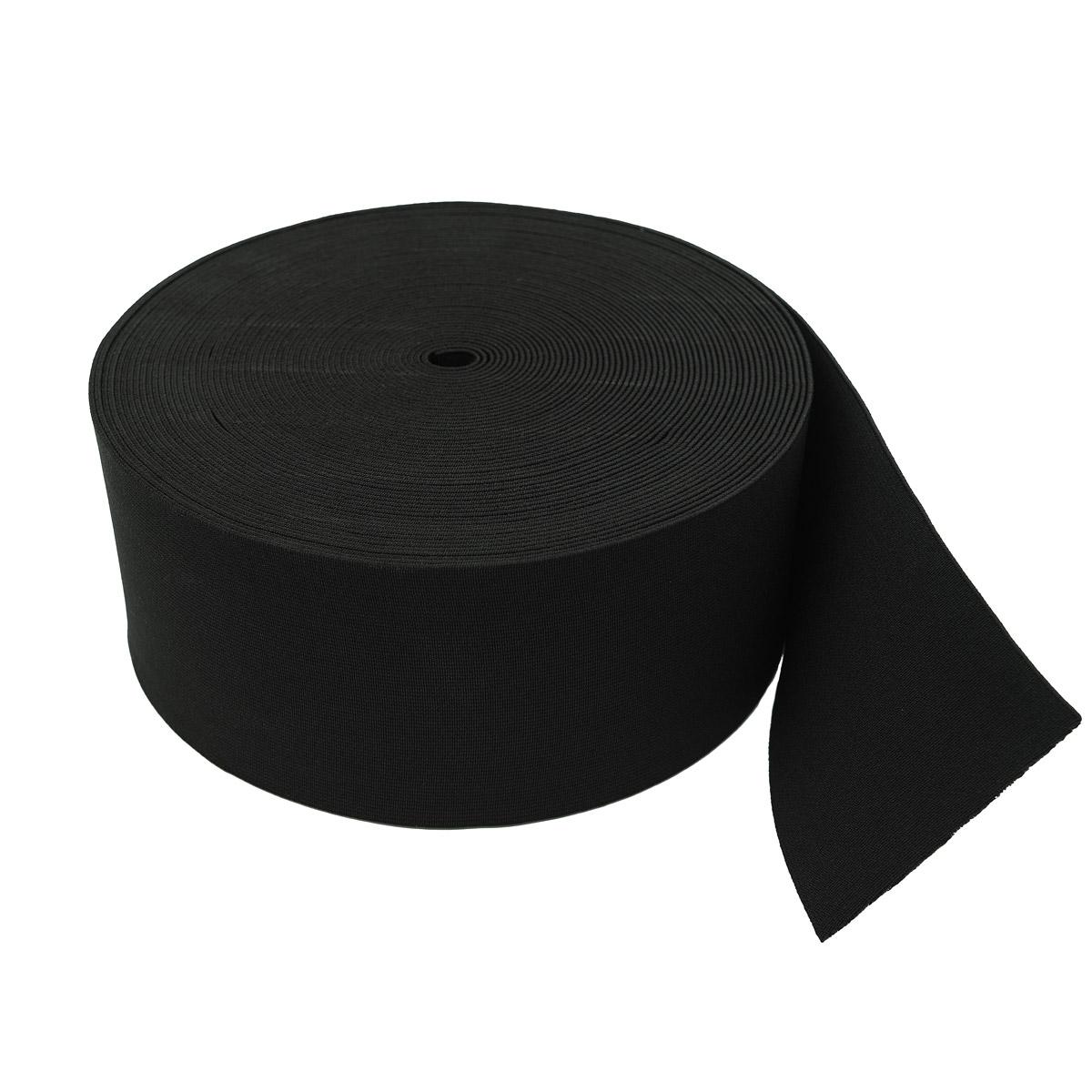 Лента тканая эласт. башм.100мм*20м черная