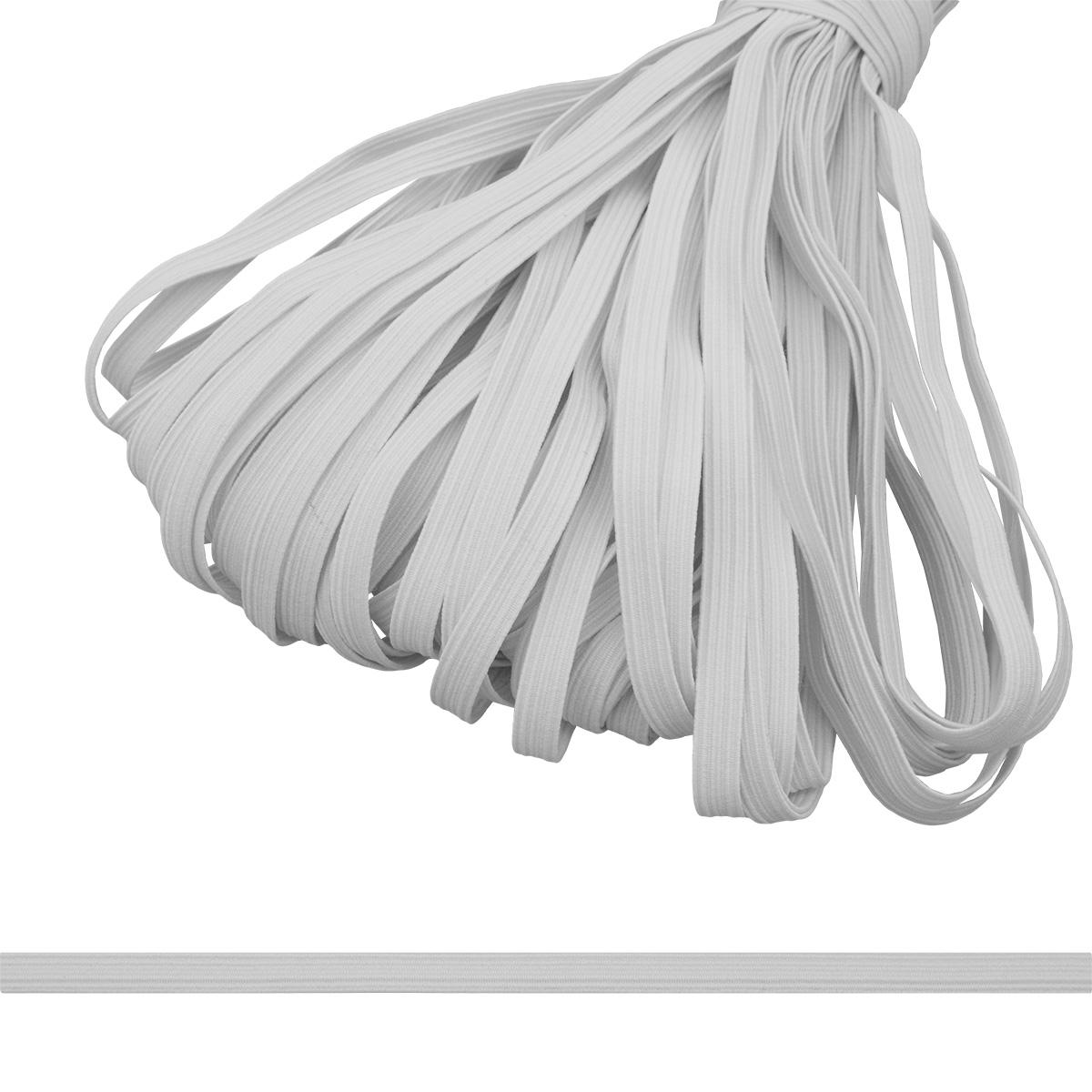 С907 Тесьма эластичная 8мм (100м) белая