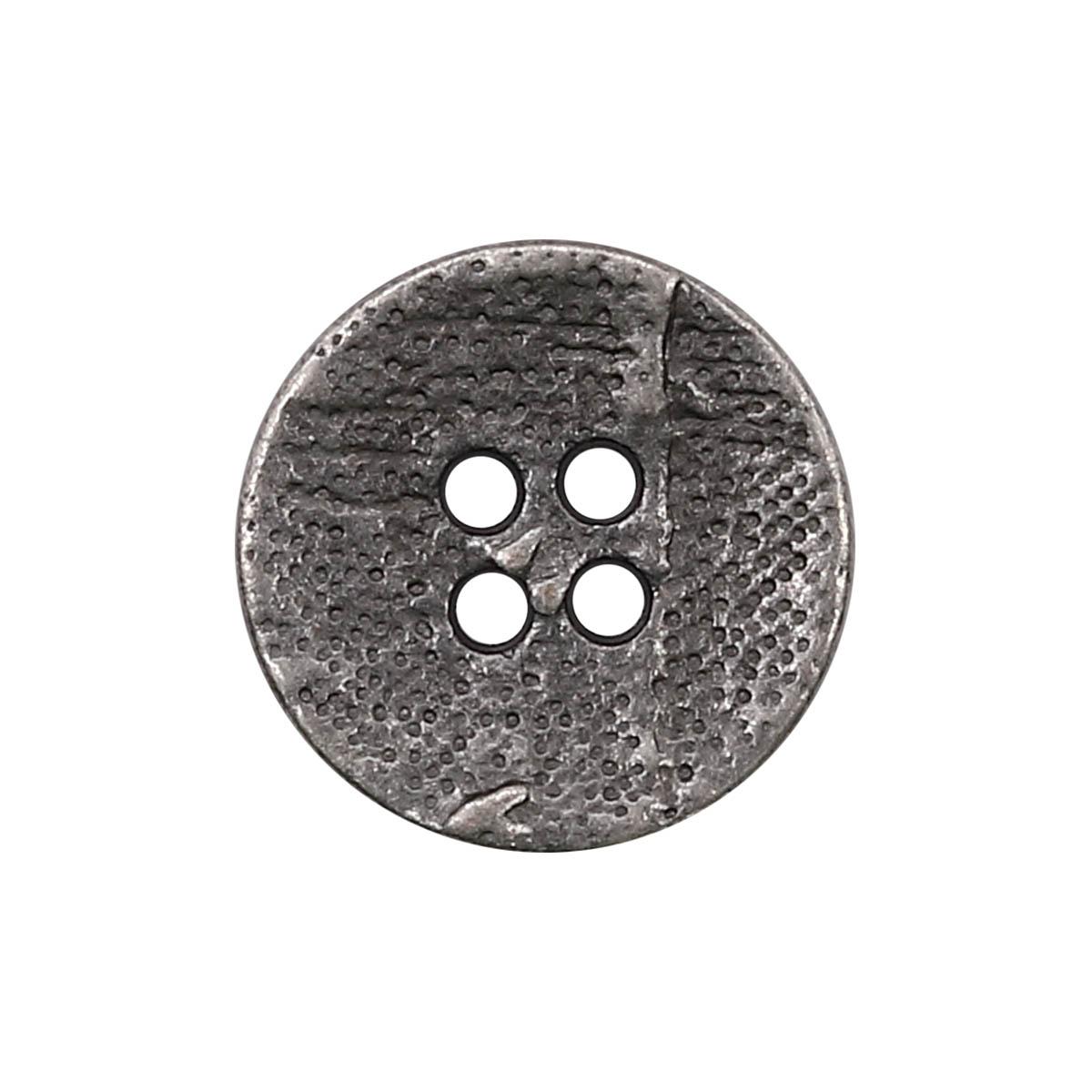 63365/4 Пуговица 4 прокола д-17мм т.сереб.мет. ГР