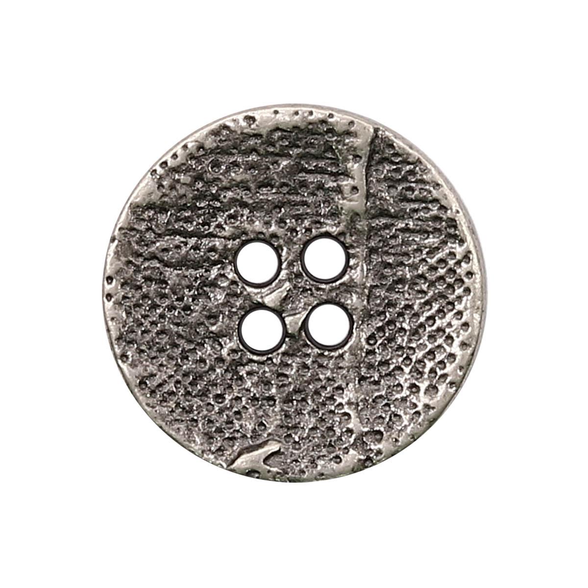 63375/4 Пуговица 4 прокола д-20мм т.сереб. мет ГР