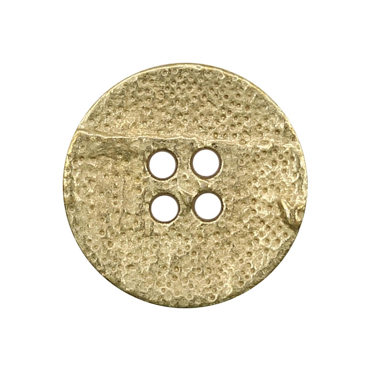 63377/4 Пуговица 4 прокола д-20мм мат.золот. мет ГР