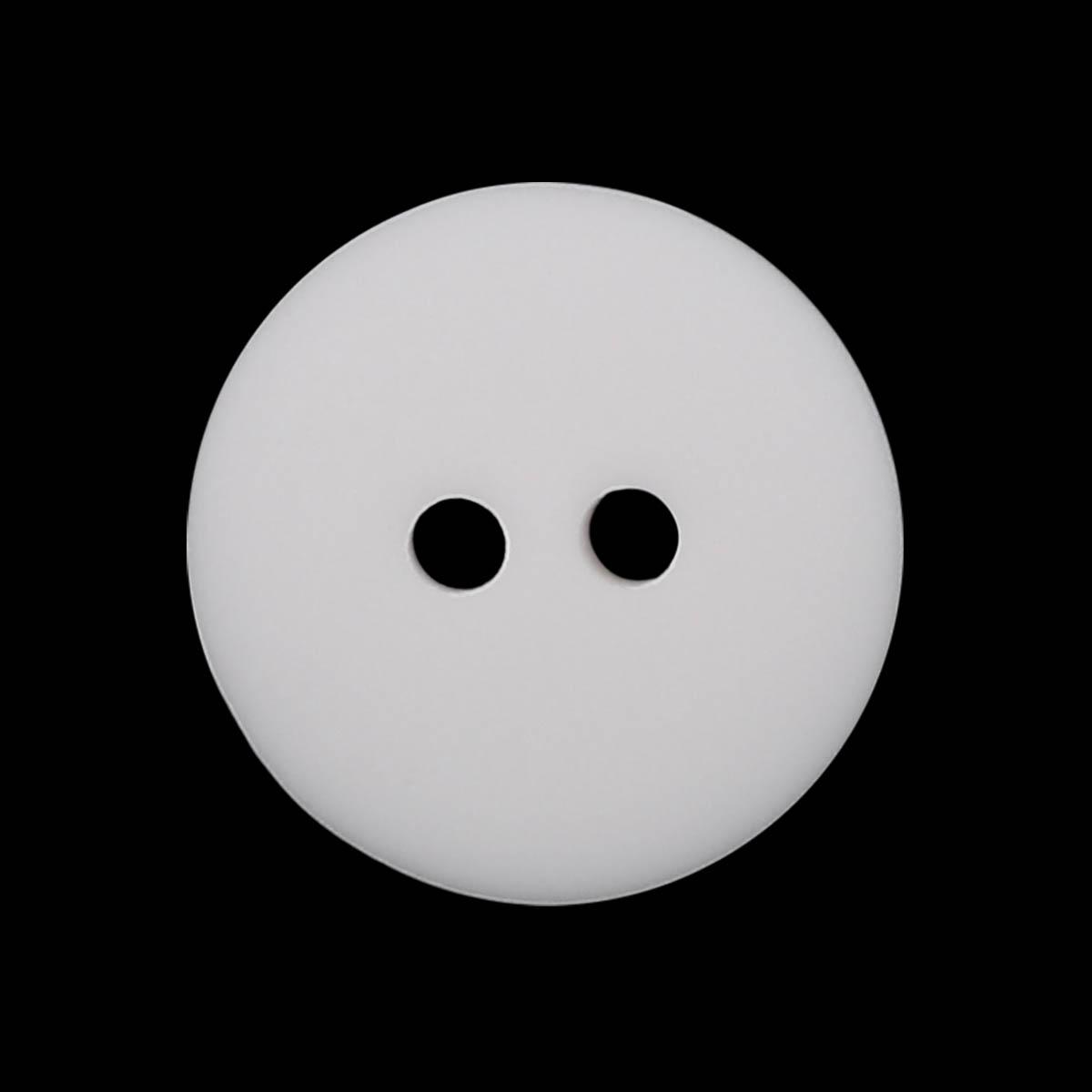 1108/2 24 (Бел/мат) Пуговица 2 прокола полиэстер