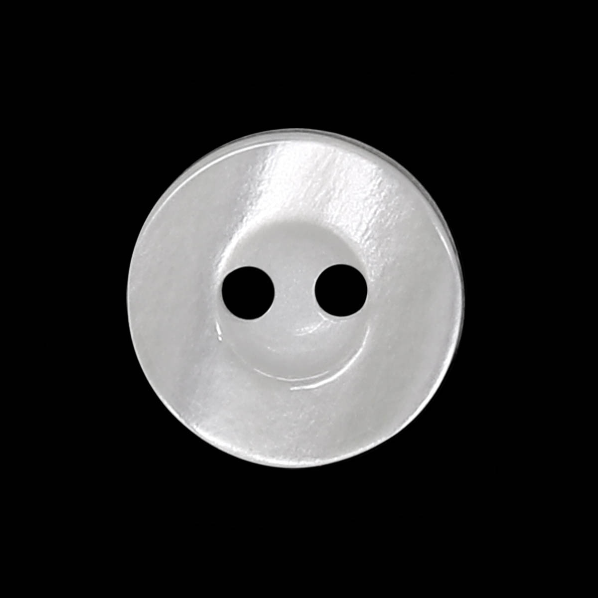 351225/2 20 (3512) Пуговица 2прокола бел.глянц.полиэстер