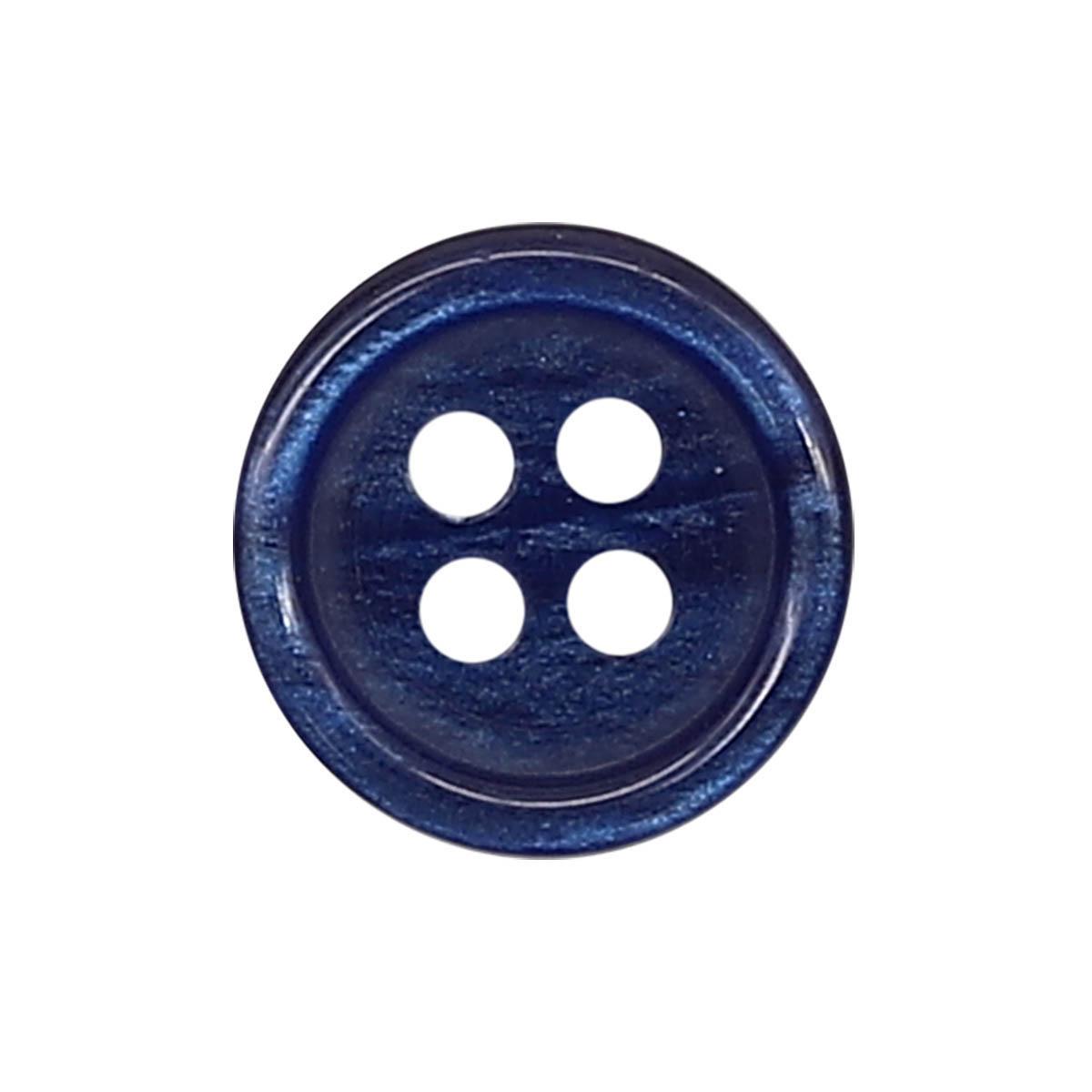 35483/4 18 (3507) Пуговица 4прокола син.глянц.полиэстер ГР
