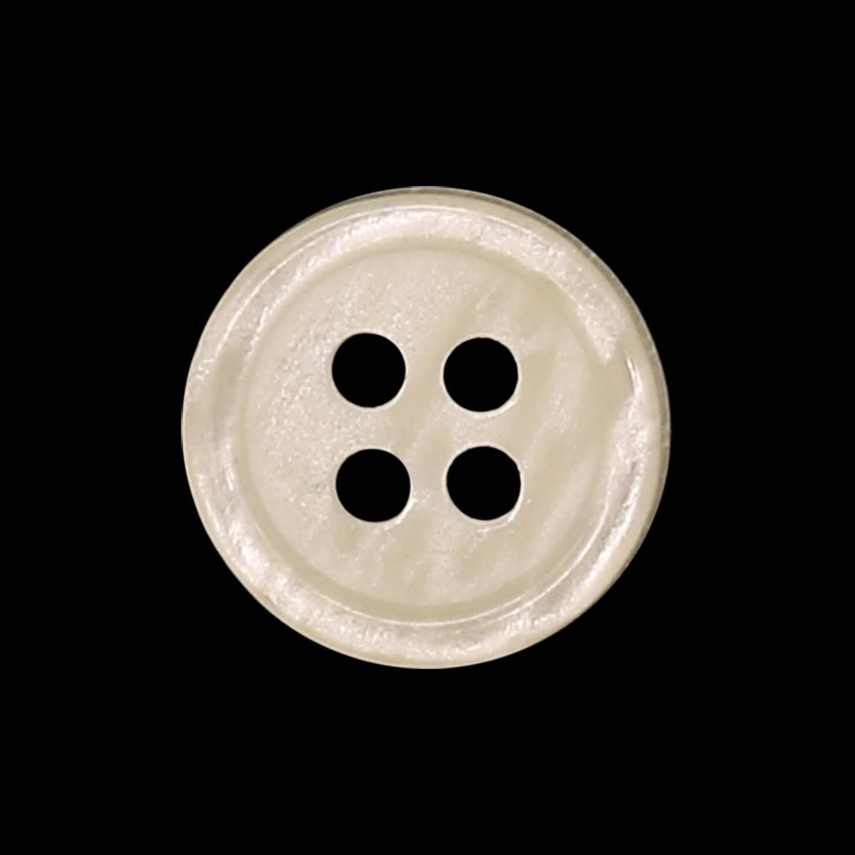 35483/4 18 (3561) Пуговица 4прокола крем.глянц .полиэстер ГР