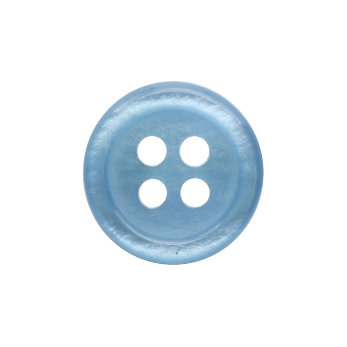 35483/4 18 (3578) Пуговица 4прокола голуб.полиэстер ГР