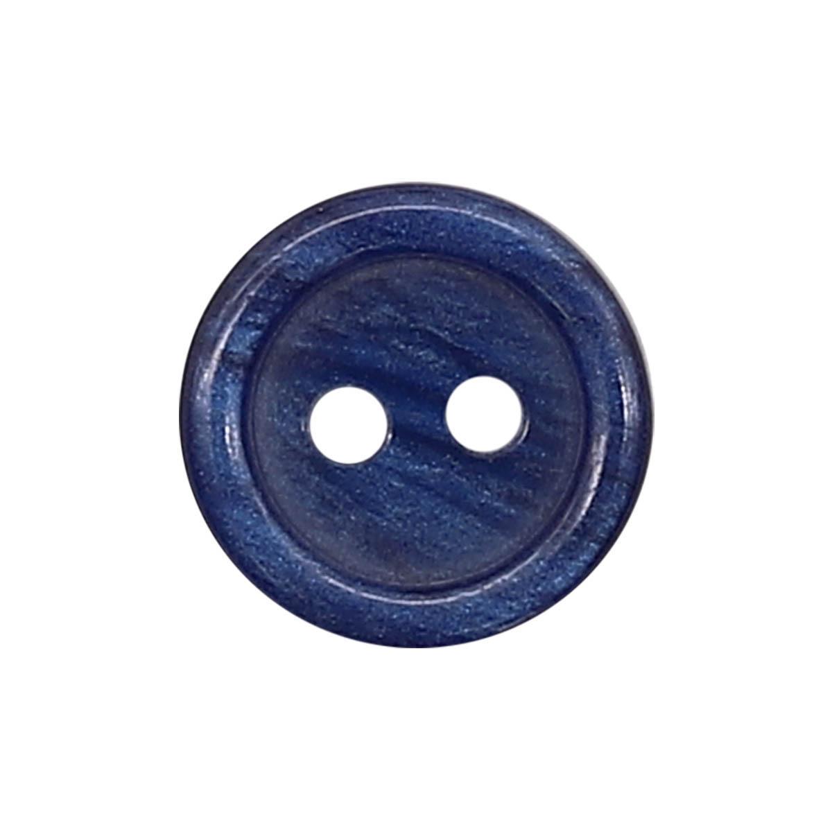 35483/2 18 (3507) Пуговица 2прокола син.глянц.полиэстер ГР