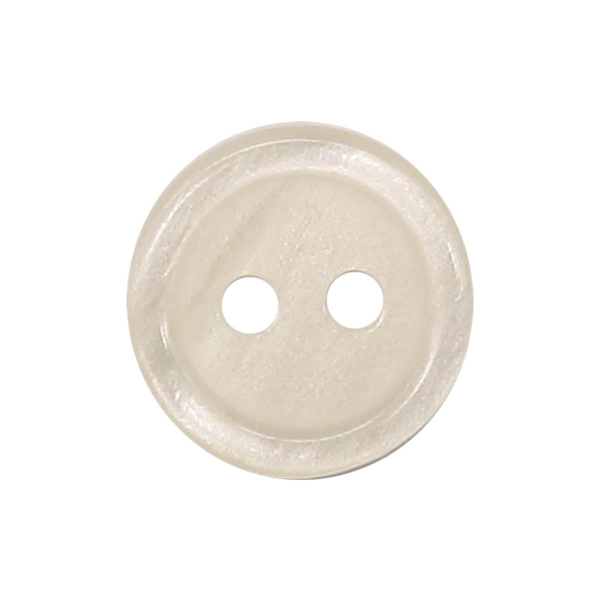 35483/2 18 (3561) Пуговица 2прокола крем.глянц.полиэстер ГР