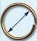 51189 Кольцо д-20мм золот ГР