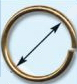 51191 Кольцо д-16мм золот ГР