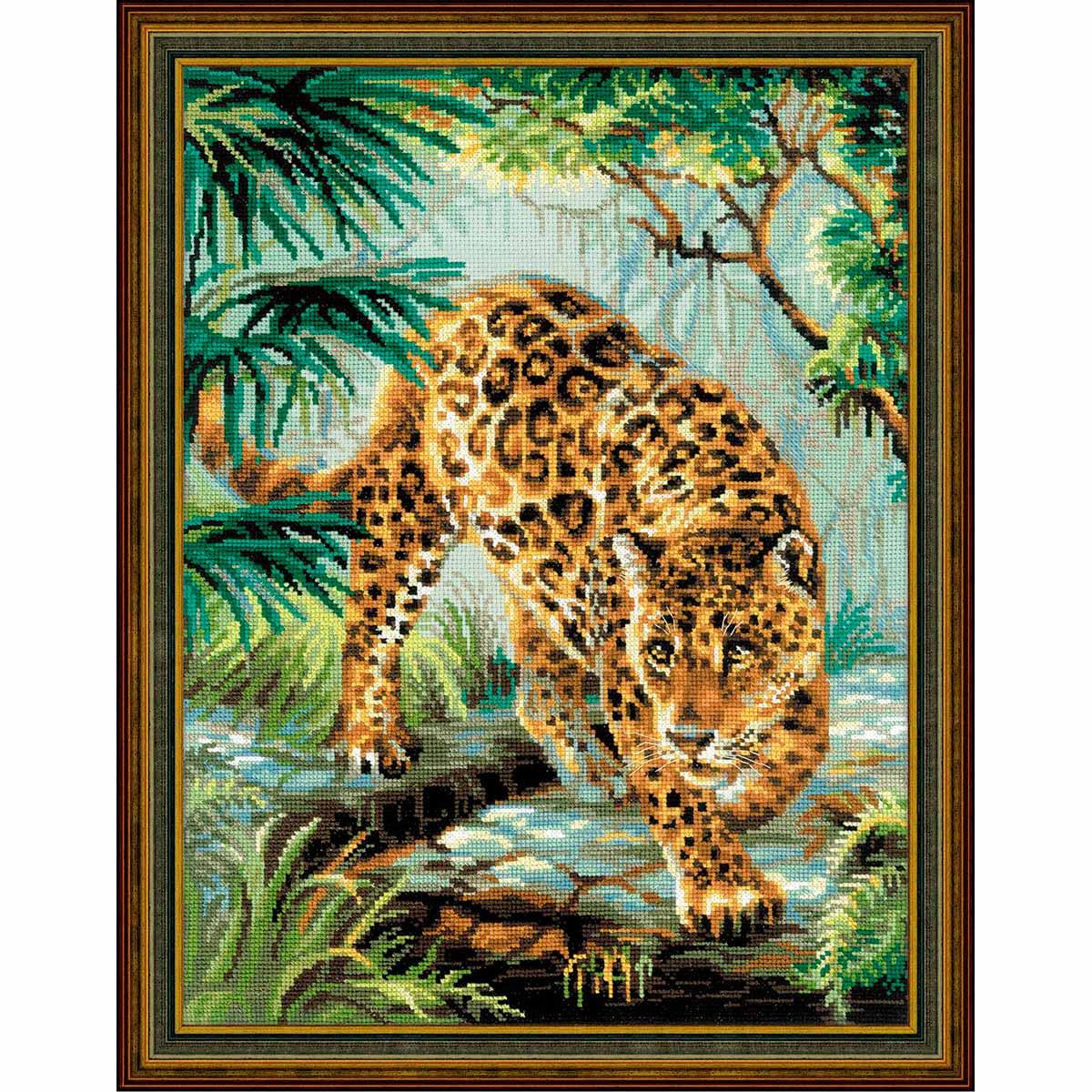 1549 Набор для вышивания Riolis 'Хозяин джунглей', 30*40 см