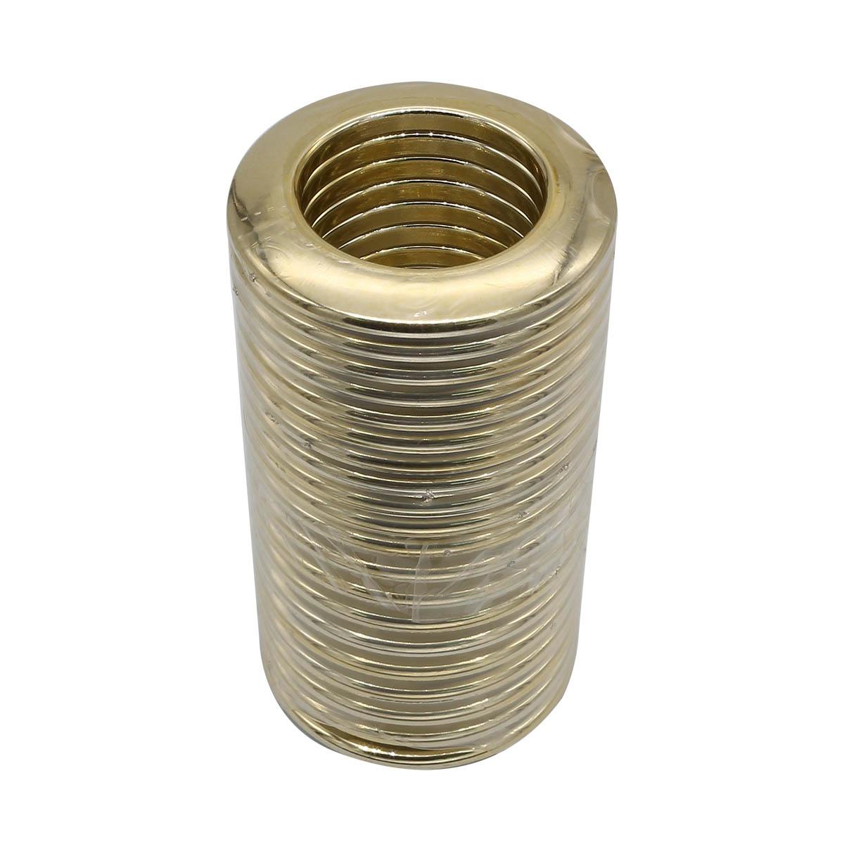 55-35-02 Люверс шторный 35мм блестящее золото ГР