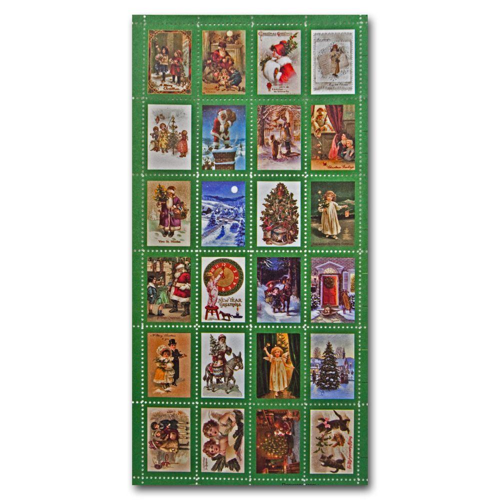 МР002 Набор декоративных марок для творчества 'Новый Год'