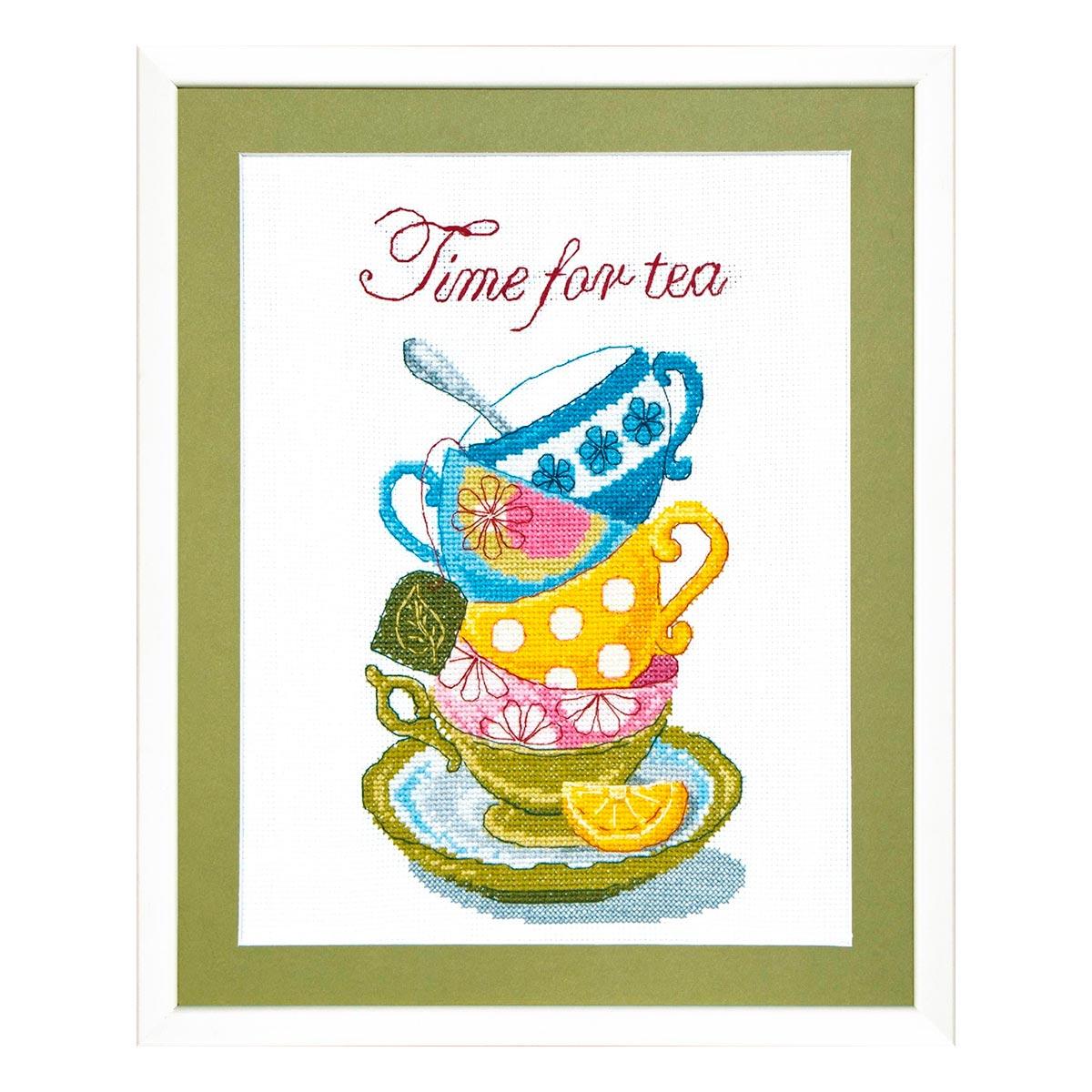 ВТ-005 Набор для вышивания 'Чарівна Мить' Crystal Art 'Time for tea', 20*26 см