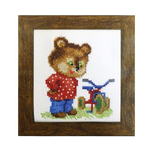 ВТ-017 Набор для вышивания 'Чарівна Мить' Crystal Art 'Подарок для мишки', 10*11 см