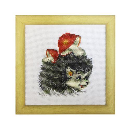 ВТ-018 Набор для вышивания 'Чарівна Мить' Crystal Art 'Хозяйственный ежик', 10*11 см