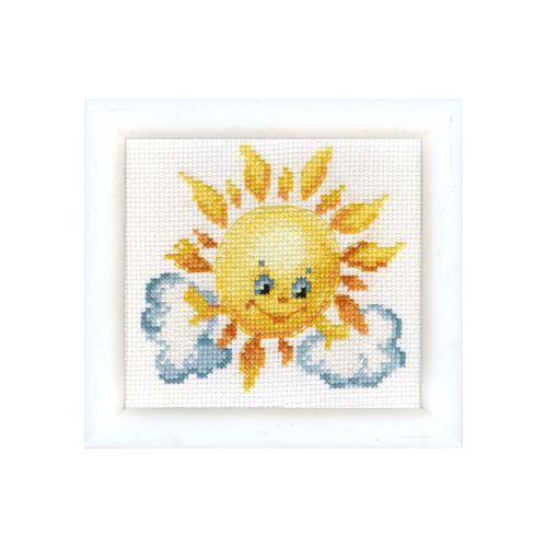 ВТ-020 Набор для вышивания 'Чарівна Мить' Crystal Art 'Ласковое солнышко', 10*11 см