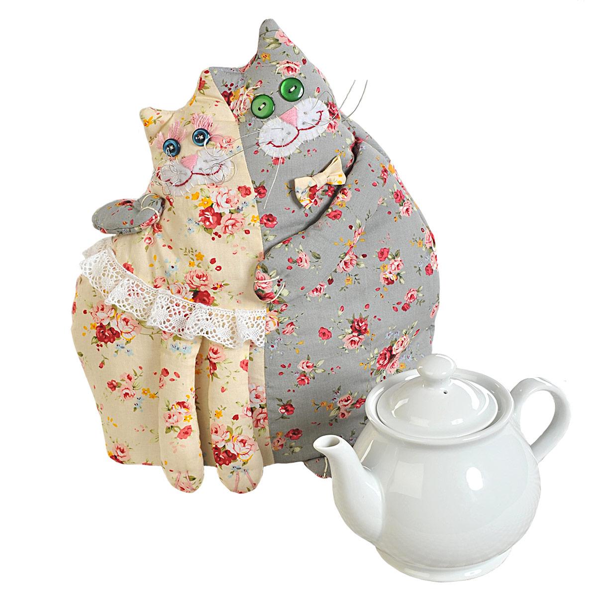 ПГЧ1101 Набор для изготовления текстильной игрушки 'Кошки-грелка', 21х28 см, 'Перловка'