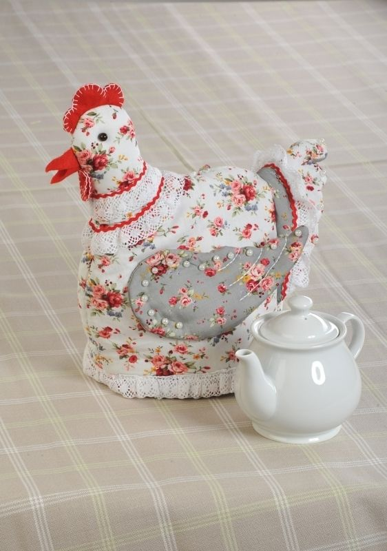ПГЧ1103 Набор для изготовления текстильной игрушки грелка на чайник 'Курица-грелка', 21*28 см, 'Перловка'