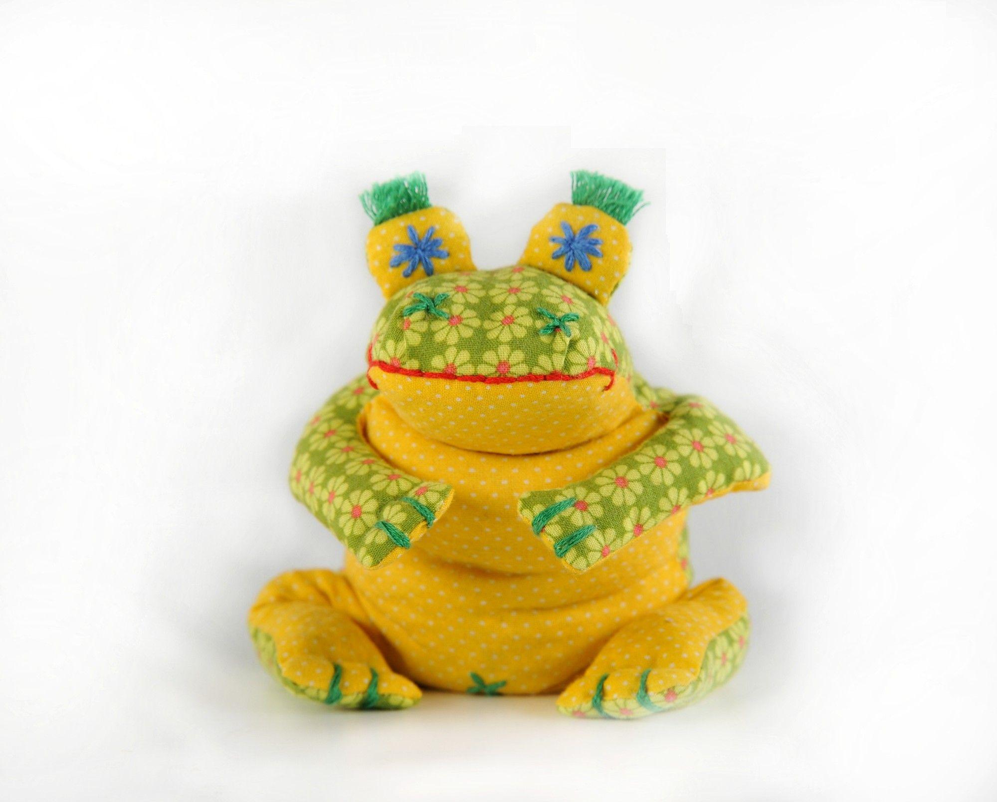 П-114 Набор для изготовления текстильной игрушки 'Лягушонок Ква', 18 см, 'Перловка'
