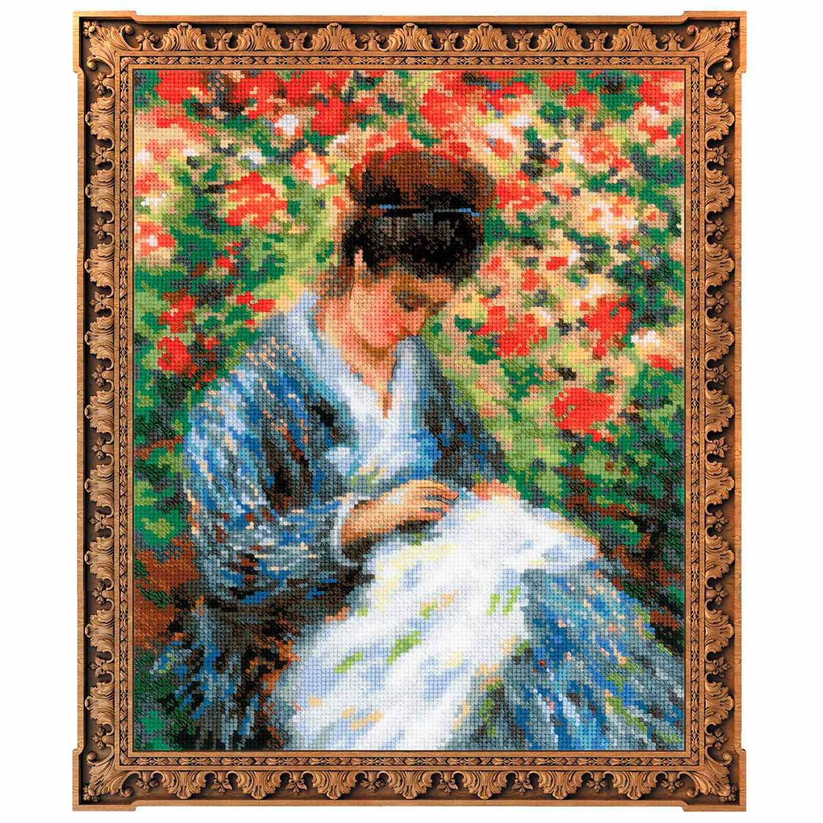 100/051 Набор для вышивания Riolis 'Мадам Моне за вышивкой', 24*30 см фото