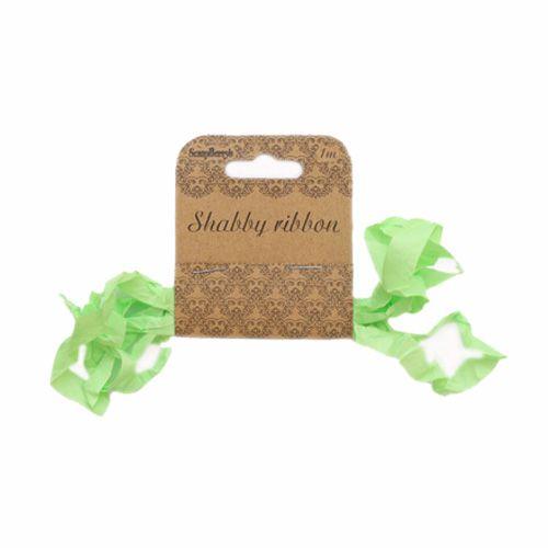 SCB510112 Шебби ленточка, свежая зелень, 10 мм*1 м