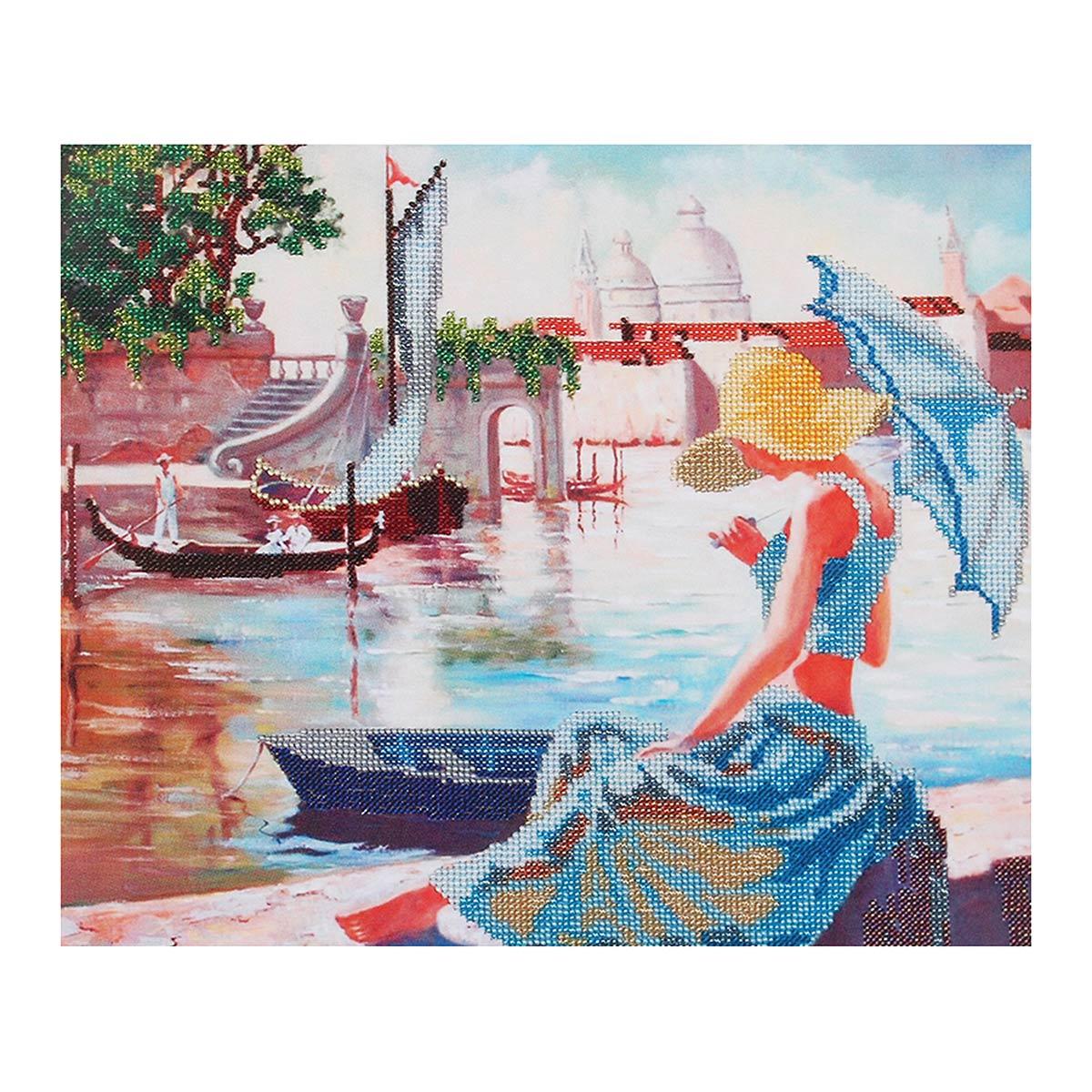 БН-3178 Набор для вышивания бисером Hobby&Pro 'Венецианский полдень', 36*30 см
