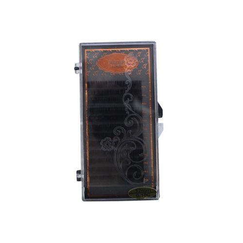 24668 Ресницы густые в коробочке 'JIAOER' № М-003 , цв. черный, 12мм L=3,7см*12шт