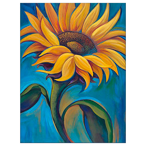 АЖ-1392 Картина стразами 'Иллюзия солнца' 24*30см