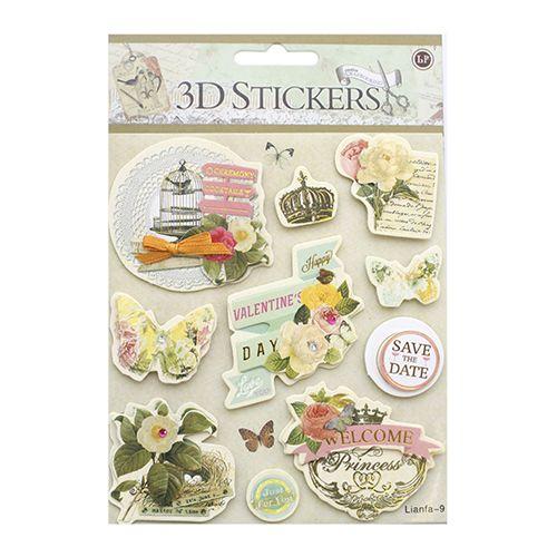 24376 Наклейки 3D 'Stickers', арт. lianfa-AI-9