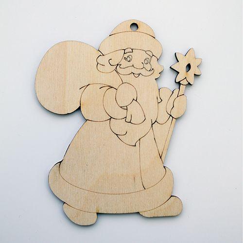 L-566 Деревянная заготовка Фигурка 'Дед Мороз с мешком' 10*12,5см 'Астра'