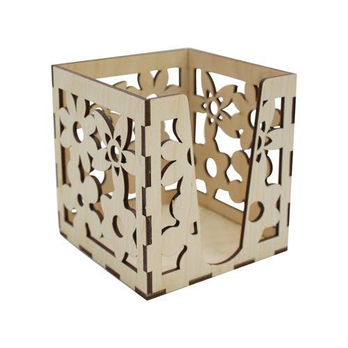 L-491 Деревянная заготовка Коробочка для бумаг 'Цветок', 10*10*10 см, 'Астра'