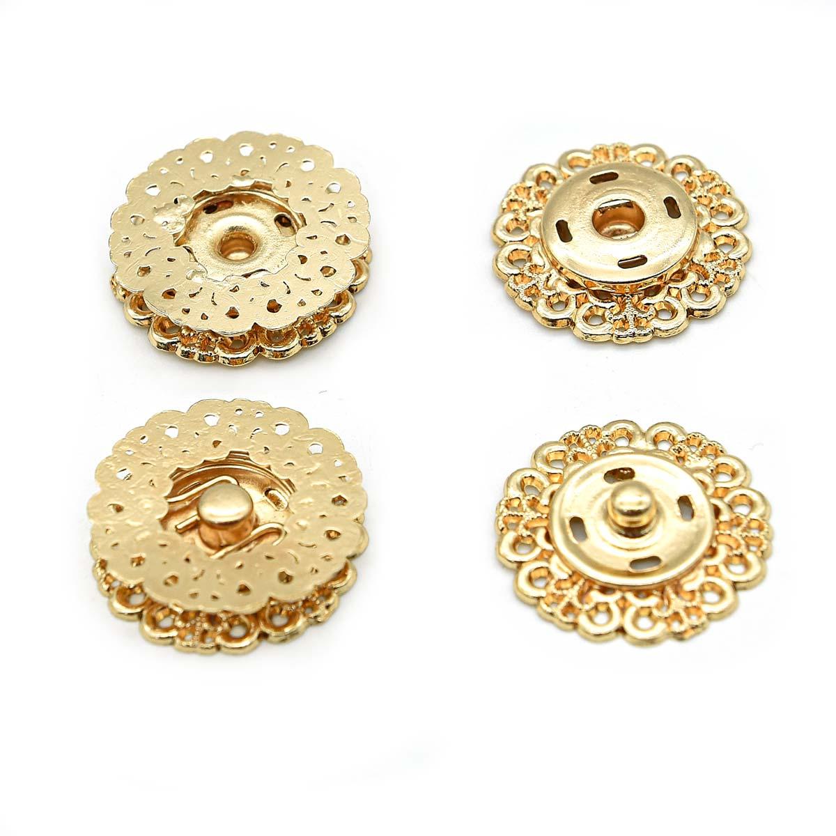 ГЖ2722 Кнопка пришивная, золото, 23 мм, упак./3 шт., Hobby&Pro