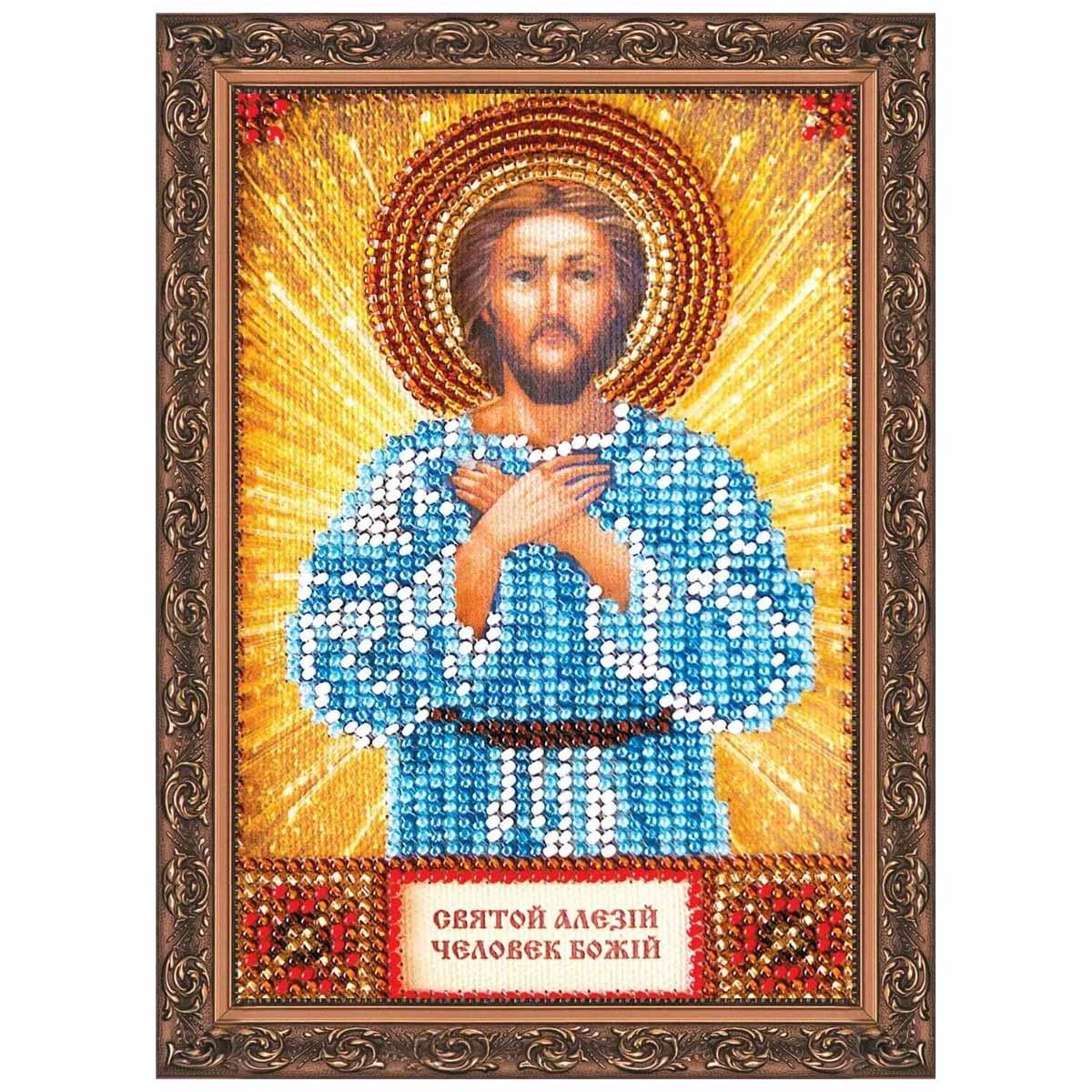 ААМ-003 Набор для вышивания бисером 'Абрис Арт' 'Святой Алексей', 10*15 см