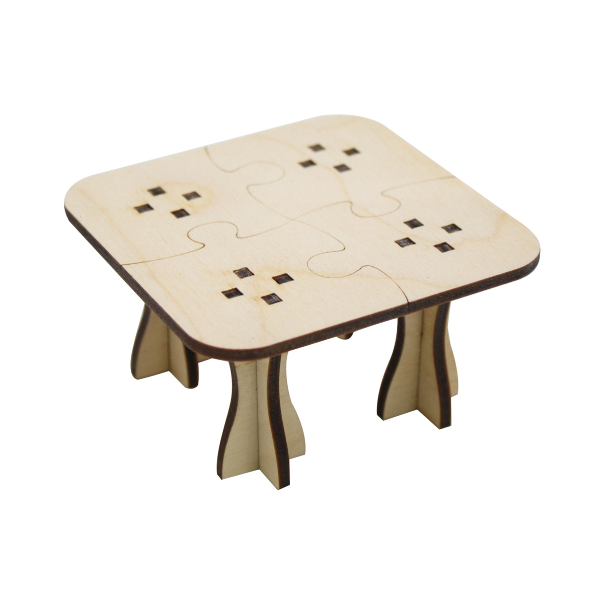 L-495 Деревянная заготовка стол 'Пазлы', 8*5 см, 'Астра'