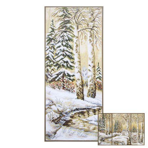 877 Набор для вышивания 'Овен' 'Русская зима-1', 15*36 см фото