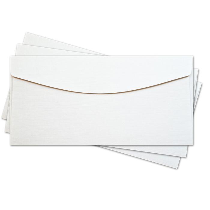 ОКО1101 Конверт для открытки 11х22 см КОМПЛ. 3шт Цвет: белый Фактура 'Лён'