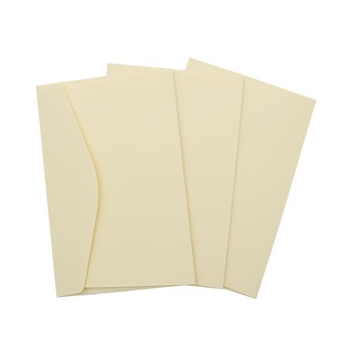 ОКО2102 Конверт для открытки 11х17 см КОМПЛ. 3шт Цвет: слон.кость Фактура 'Лён'