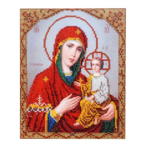 БН-4007 Набор для вышивания бисером Hobby&Pro 'Икона Пресвятой Богородицы Тихвинская', 19*23 см