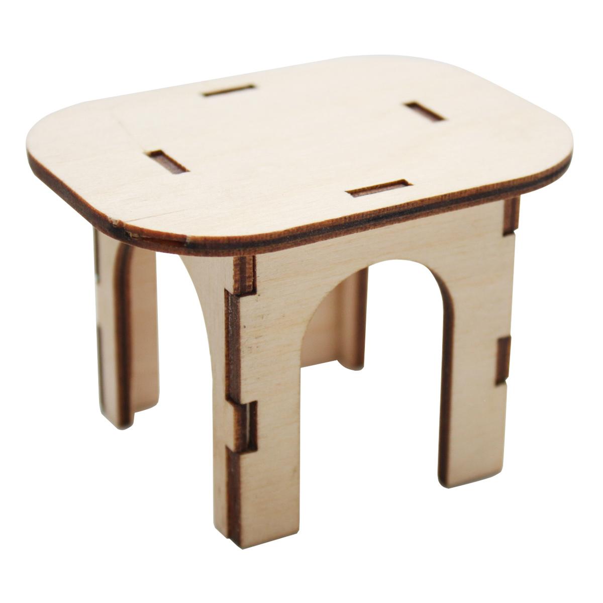 L-507 Деревянная заготовка 'Стол квадратный', 6*8*5,5 см, 'Астра'